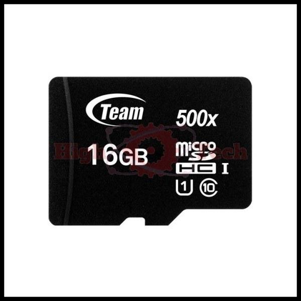 Thẻ nhớ micro SDHC Team 16GB class 10 (Đen) + Đầu đọc thẻ micro ngẫu nhiên