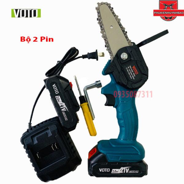 Máy Cưa Xích Xài Pin 5 Cell VOTO Xài Chân Pin MAKlTA 18V - 21V