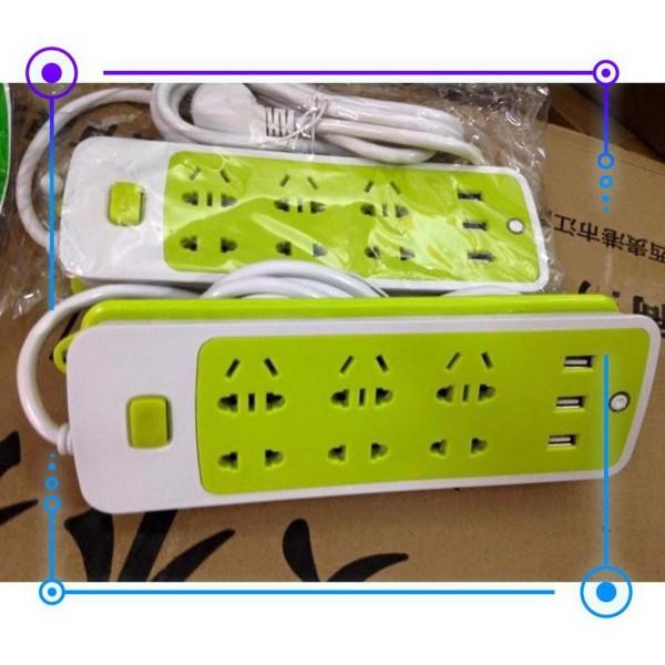 Bảng giá Ổ Điện Đa Năng 3 Cổng Sạc USB 6 Ổ Cắm Điện - Ổ Điện 6 lỗ - Ổ Cắm Điện nhựa PVC