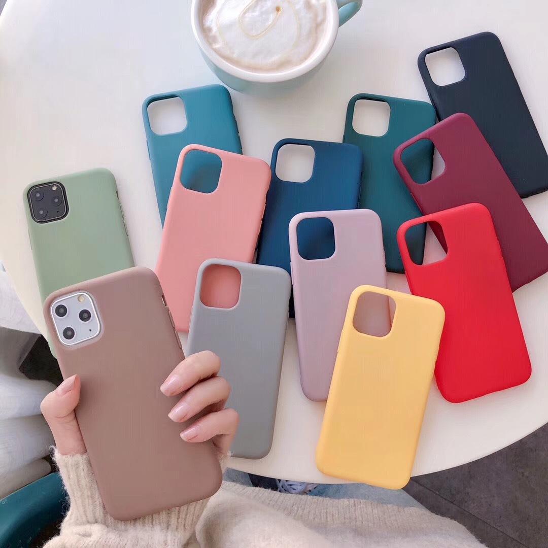 Ốp lưng trơn dẻo IPHONE (5 màu) dành cho ip 6 6s 6s Plus 6 Plus 7 8 7plus 8plus X XS XR XS Max 11 11 Pro 11 Pro Max f01