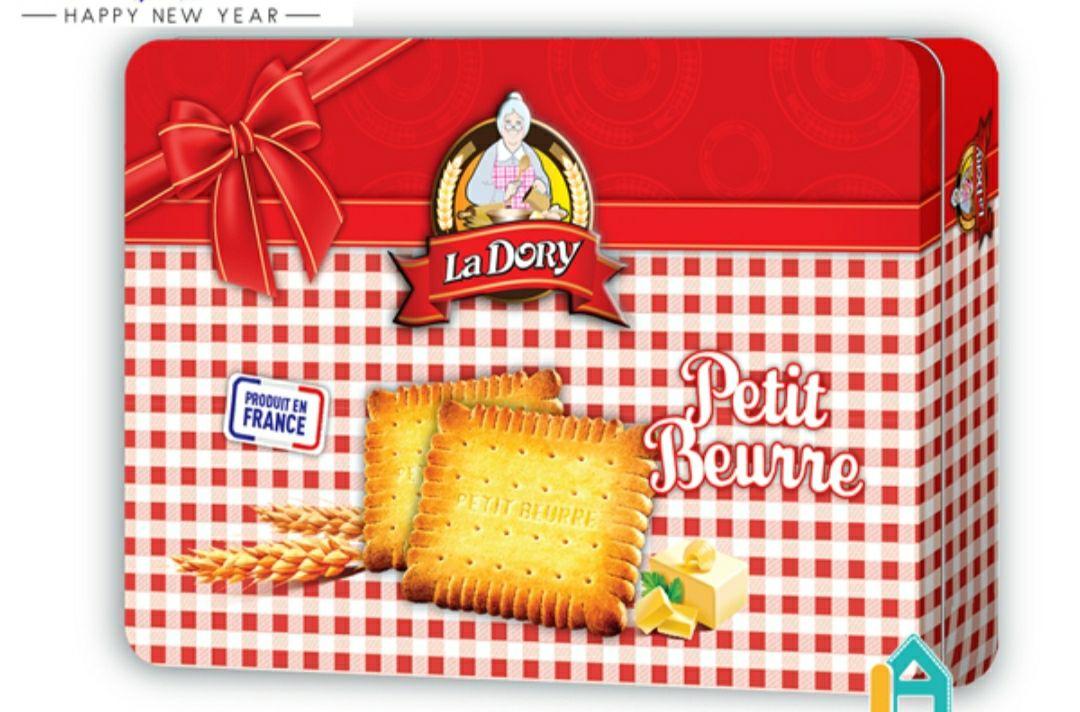 Bánh Qui Bơ Hiệu La Dory Pettit Choco Hộp Thiết 300Gr
