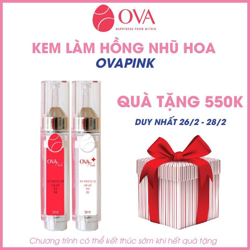 Kem làm hồng nhũ hoa và vùng kín OvaPink, giảm nhanh thâm, ủ dưỡng, làm hồng ti, an toàn và hiệu quả nhanh trong 7 ngày, dung tích 10ml.