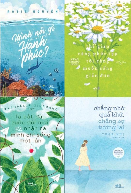 nguyetlinhbook - Combo Sách: Mình nói gì khi nói về hạnh phúc + Thế giới càng phức tạp tôi càng muốn sống giản đơn + Ta bắt đầu cuộc đời mới, khi nhận ra mình chỉ sống một lần + Chẳng nhớ quá khứ, chẳng sợ tương lai