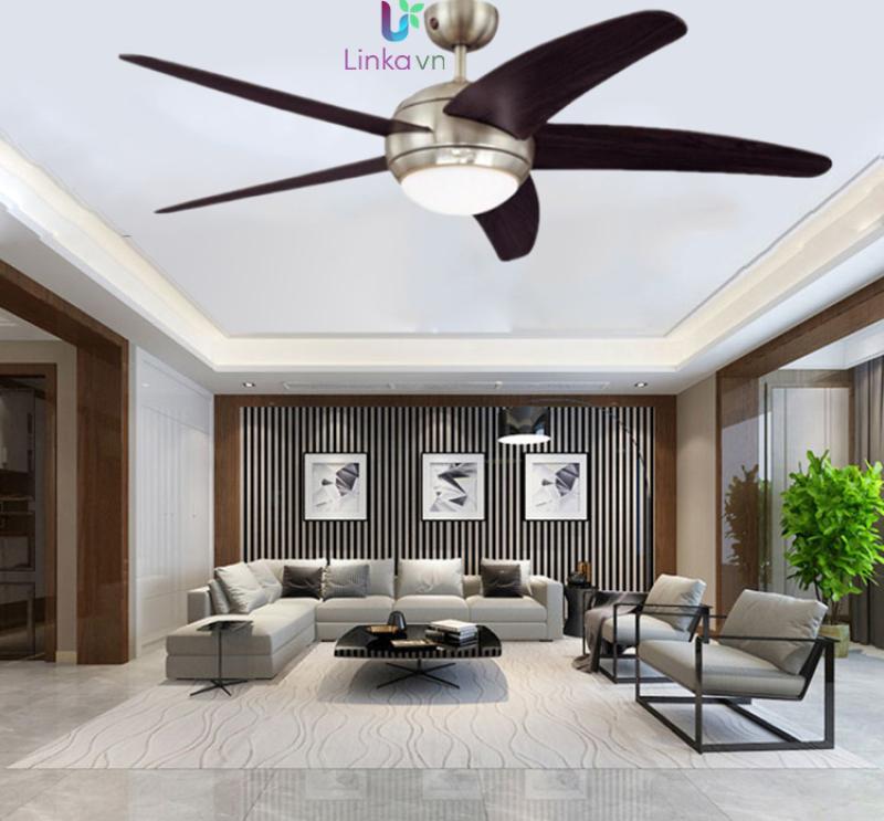 Quạt trần đèn trang trí 5 cánh gỗ LINKA LI-QAT058 – Công nghệ tính năng gió tự nhiên