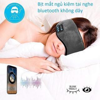 Bịt Mắt Ngủ Kiêm Tai Nghe Bluetooth Không Dây cao cấp Music Eyemask phù hợp cho dân văn phòng, người đi tàu xe và yoga thumbnail