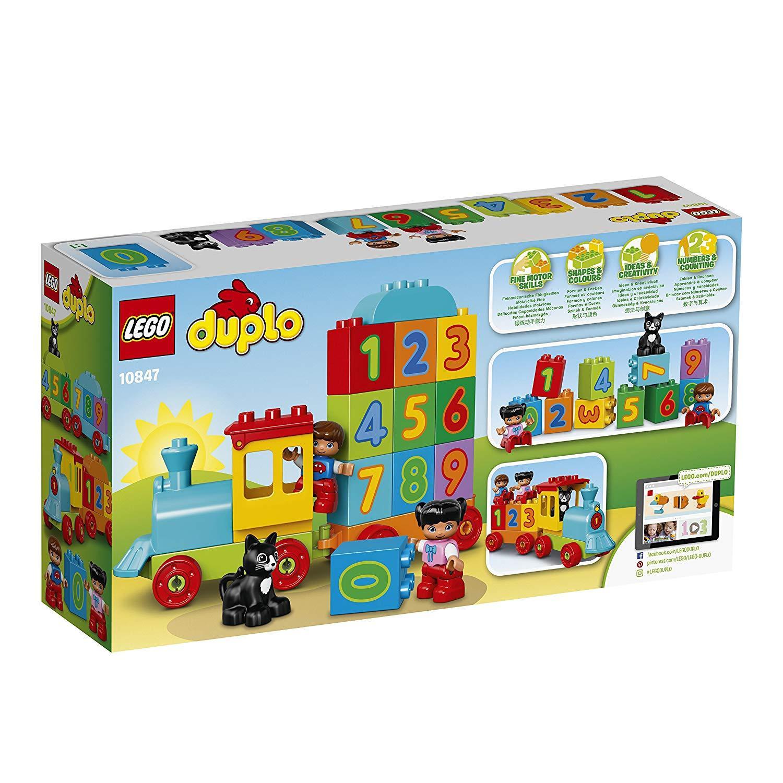 Lego Duplo Tàu Lửa Học Số Mới 10847 - 23 miếng ghép