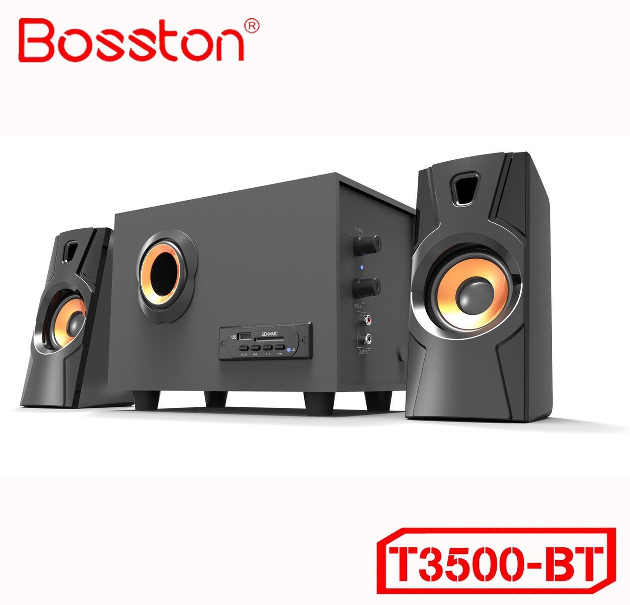 Loa vi tính 2.1 kiêm Bluetooth USB thẻ nhớ Bosston T3500-BT công suất 20W (Đen)