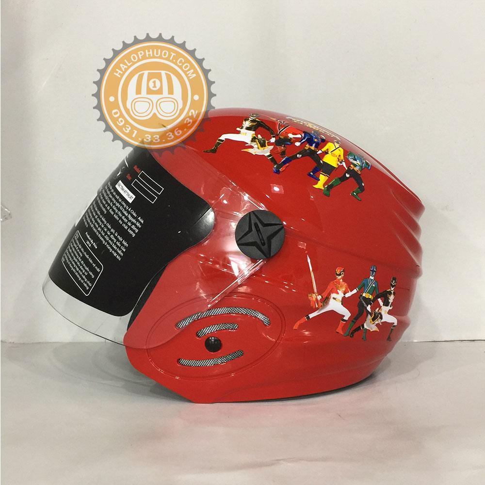 Giá bán Nón bảo hiểm trẻ em ASIA MT-134S có kính (Đỏ bóng)