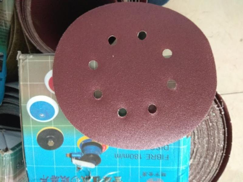 Đĩa chà nhám tường- giấy chà nhám  (100 chiếc) đường kính 180mm, đủ các loại độ nhám p40,p60,p80,p100,p120,p150, p180 ..
