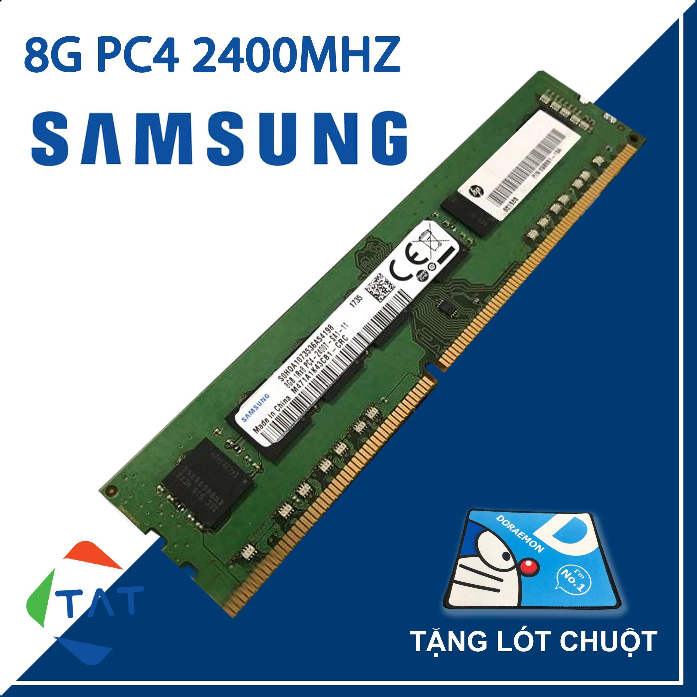 Giá RAM Samsung DDR4 8GB Bus 2400MHz Dùng Cho PC Desktop Bảo Hành 36 Tháng 1 Đổi 1
