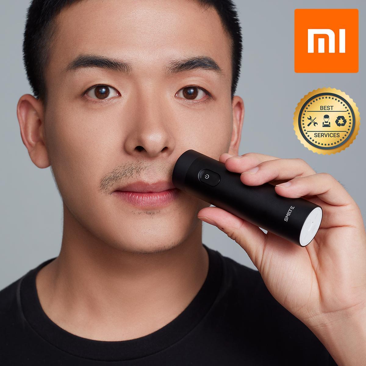 Máy Cạo Râu Smate Dao Ba Lá Tự Động Thông Minh Xiaomi Shavers Đen nhập khẩu