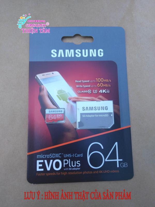 Thẻ nhớ Samsung EVO Plus 64Gb U3 100mb/1s 60mb/1s