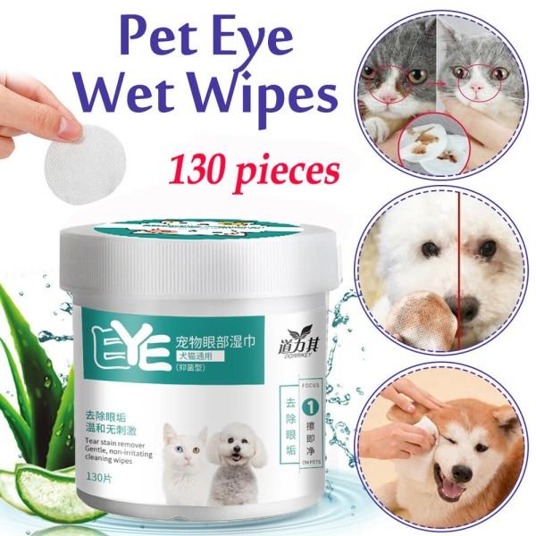 Khăn ướt lau nước mắt và tai ố bẩn cho chó mèo từ cây Lô Hội - Khăn lau mắt chó hộp 130 chiếc