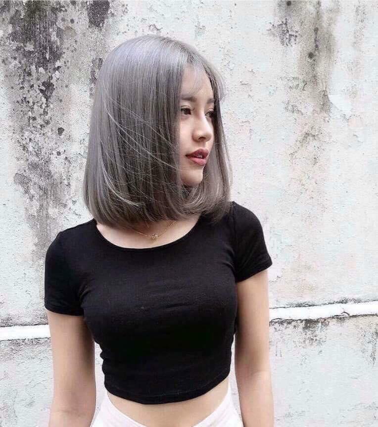 Thuốc nhuộm tóc màu khói tro + kèm trợ dưỡng 100ml cao cấp