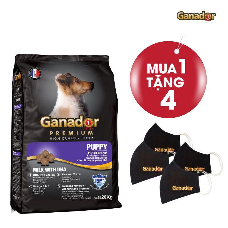 Thức ăn cho cún cưng Ganador vị sữa & DHA Puppy Milk with DHA 20kg
