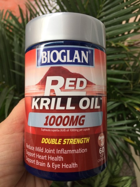 Dầu Nhuyễn Thể Bioglan Red Krill Oil 1000mg 60 Capsules
