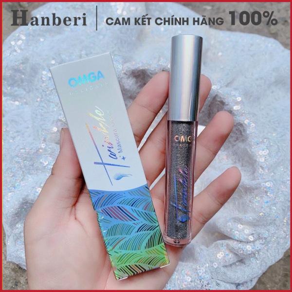 [YÊU THÍCH] Mascara chuốt mi ánh nhũ kim tuyến Omega lung linh, dài, dày, cong, đẹp, không lem hot trend 2021 - Hanberi giá rẻ
