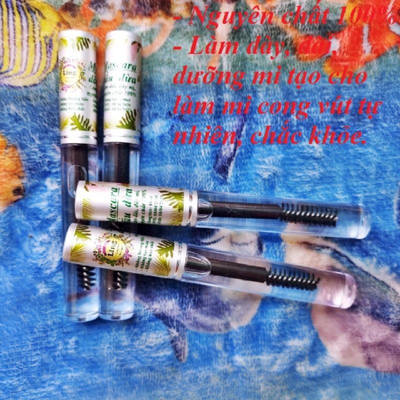 Mascara Dầu Dừa 10ml Dưỡng Mi, làm dài, dày mi Ling 10ml có giấy VSATTP và giấy phép ĐKKD nhập khẩu