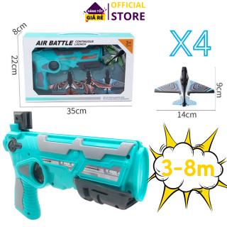 Đồ chơi bắn máy bay cho bé, kèm 4 máy bay mô hình, bắn xa 3-8m, Đồ chơi vận động ngoài trời cho bé, bắn máy bay đồ chơi chất lượng cao Dũng Dũng 1 thumbnail