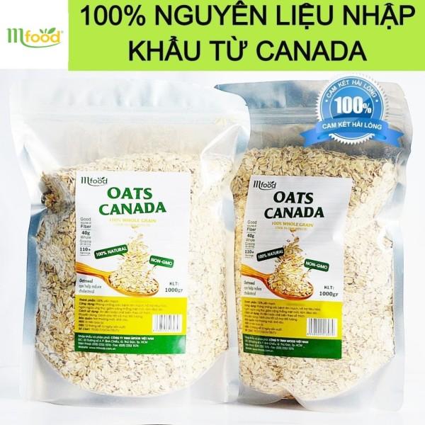 Yến Mạch Oats Canada Nguyên Chất túi 1kg ( Nguyên Hạt )