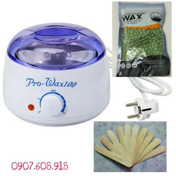 [HCM]Nồi Nấu Sáp Wax Lông Chuyên Dùng Triệt Lông Cơ Thể - Bảo Hành Đầy Đủ.Tặng gói sáp 100g và que lấy sáp
