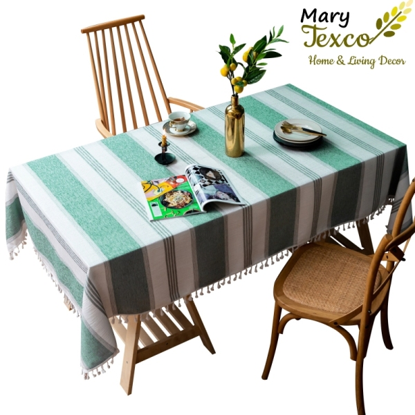 Khăn trải bàn Mary Texco cotton thêu trang trí khách sạn, nhà hàng, quán cafe - KBCC12
