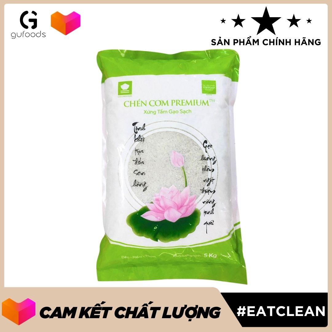 Gạo sạch VietGAP Chén Cơm Premium ™ (dẻo - mềm - thơm) (5kg)