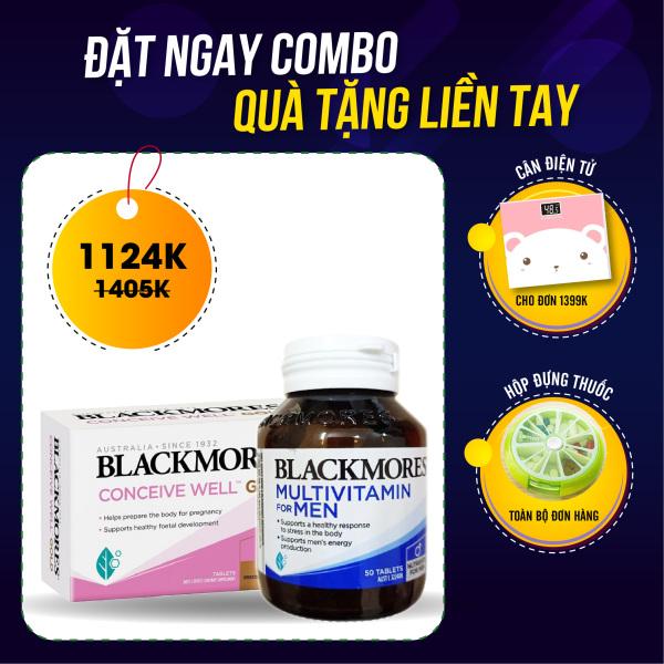 Combo Tăng khả năng thụ thai + Vitamin tổng hợp cho nam giới Blackmores