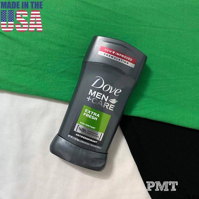 [USA] Lăn sáp Khử Mùi nam Dove Men Extra Fresh 76g +Care (sáp trắng) - Mỹ cao cấp