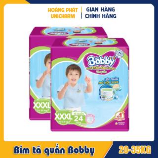 Bỉm tã quần Bobby size XXXL 24 miếng và 34 miếng cho bé từ 20-35kg thumbnail