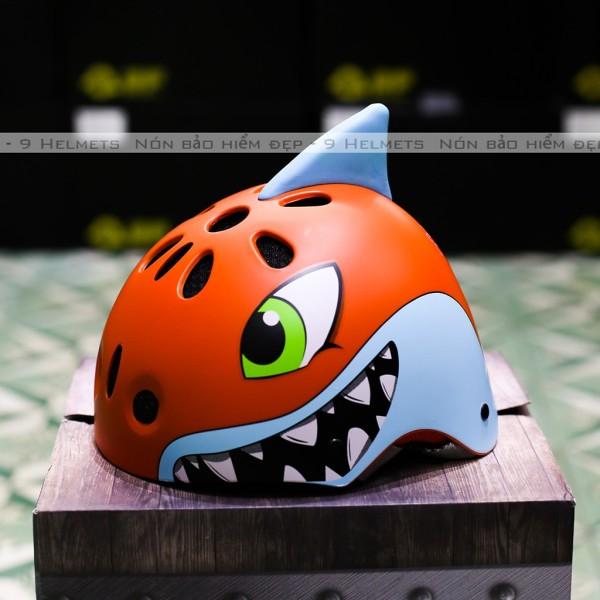 Giá bán [HCM]Mũ Bảo Hiểm Trẻ Em Cá Mập Cam