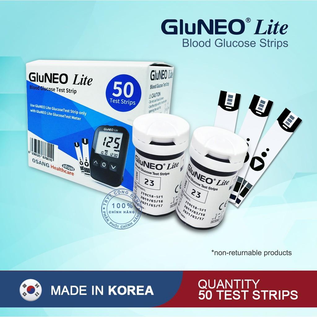 Que thử đường huyết GluNeo lite hộp 50 Test bán chạy