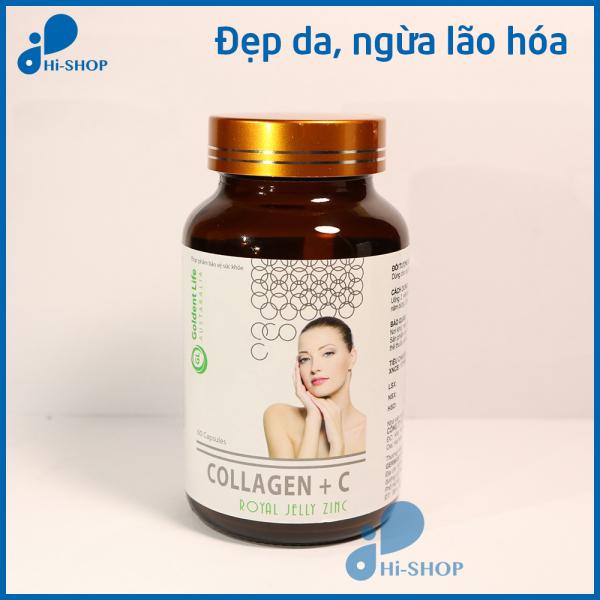 Viên uống đẹp da Collagen +C giảm thâm nám tàn nhang, ngừa nếp nhăn, chống lão hóa - Hộp 60 viên