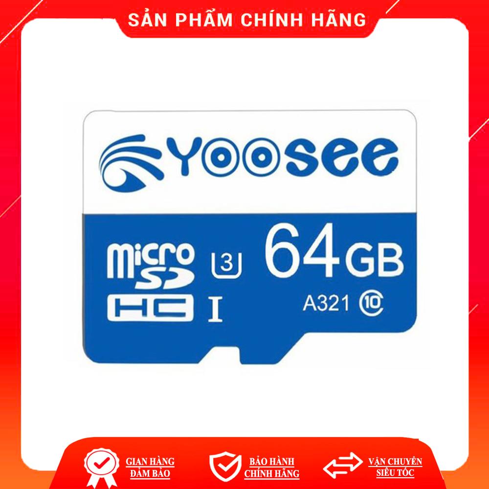Thẻ nhớ 32Gb/ 64Gb YOOSEE U3 Class10 tốc độ cao chuyên dụng cho Camera wifi Điện thoại Hiệu suất cao tốc độ đọc nhanh