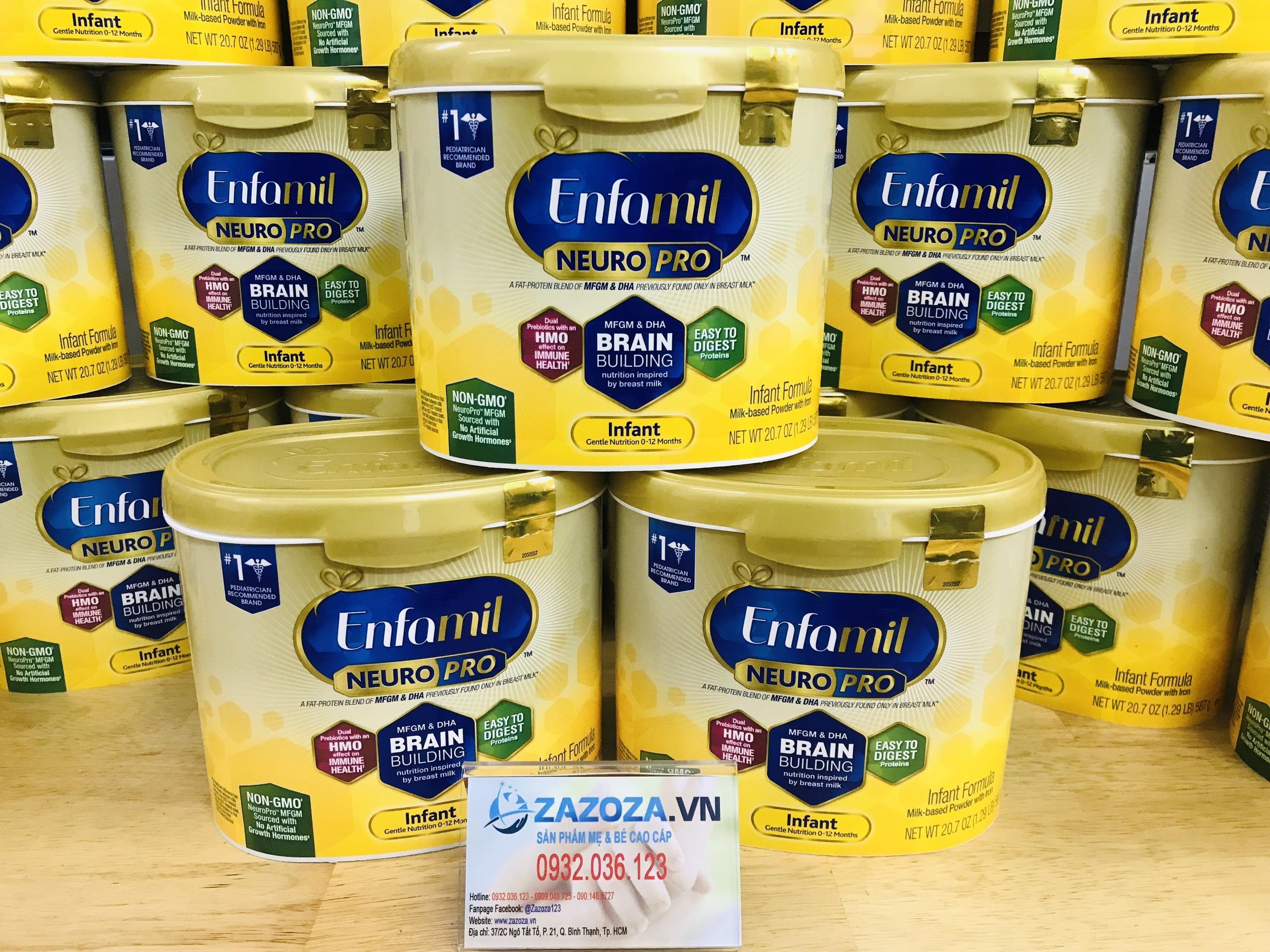 Sữa bột Enfamil Neuro Pro NON-GMO Infant Formula 587g nhập...