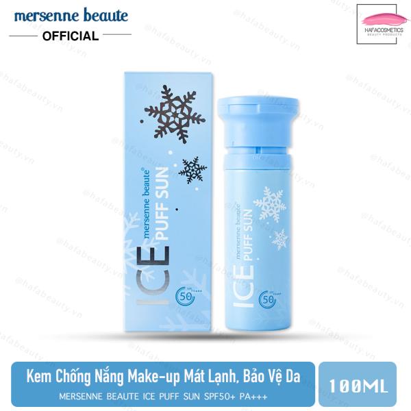 [HCM]Kem Chống Nắng Make-up Mát Lạnh Mersenne Beaute Ice Puff Sun SPF50+PA+++ 100ml _ Mersenne Beaute Chính Hãng