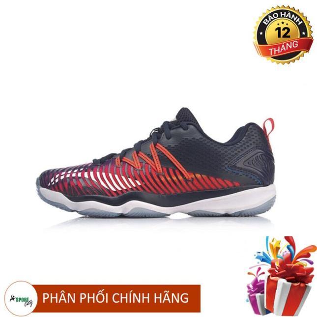Giày cầu lông nữ Lining chuyên nghiệp, đẳng cấp AYTP012-1 (Màu đen đỏ) giá rẻ
