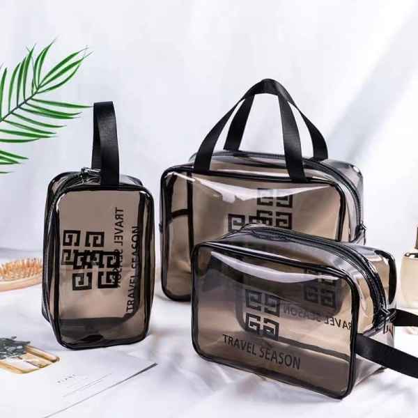 Sét 3 túi đựng mý phẩm, túi đựng mỹ phẩm du lịch, túi đựng mỹ phẩm trong suốt, túi đựng đồ trang điểm, túi đựng đồ trang điểm cá nhân, túi đựng mỹ phẩm chống nước, túi đựng mỹ phẩm mini -Shoptuankiet nhập khẩu