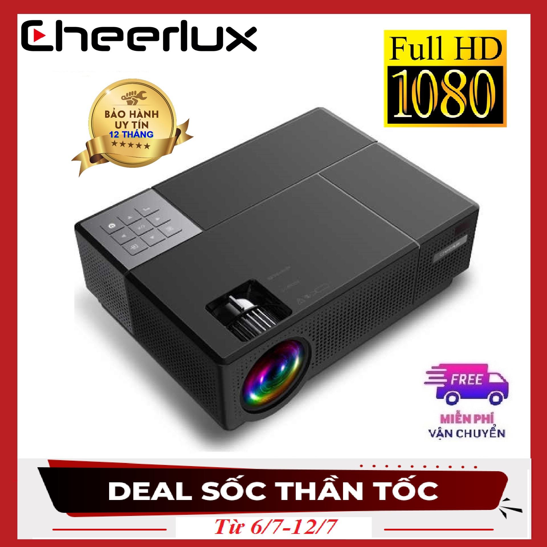 Offer Khuyến Mãi Máy Chiếu FULL HD Cheerlux CL770 Projector 1920x1080 , đèn Led 175W, 4000 Lumens Sáng Rỏ, Chức Năng Zoom, điều Chỉnh Vuông Hình 4 Chiều, Phù Hợp Xem Phim Tại Gia, Cafe Bóng đá, Phòng Họp.
