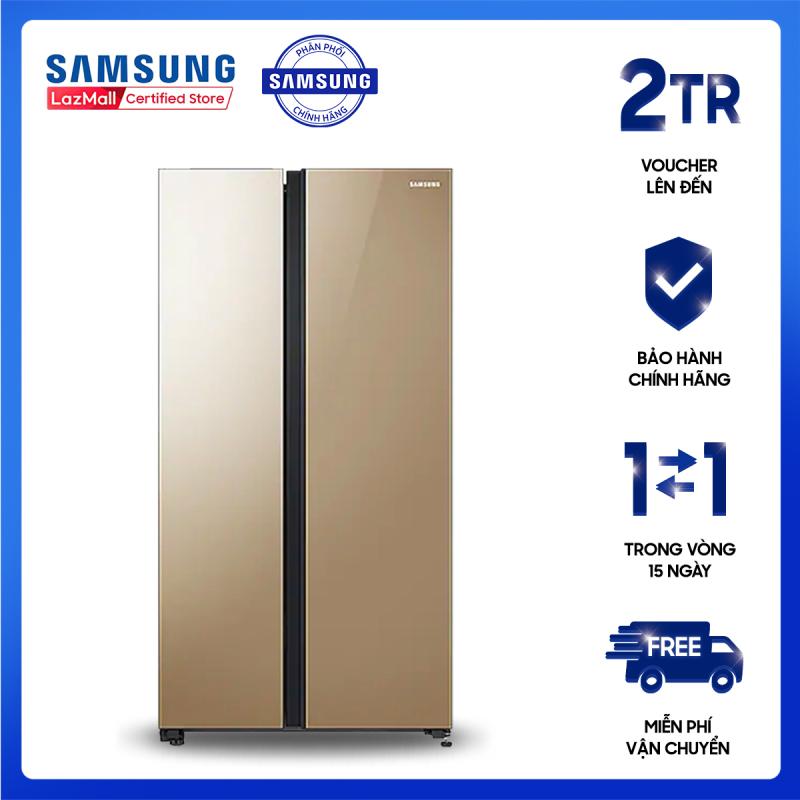 Tủ lạnh Samsung Inverter 647L RS62R50014G/SV,kính chịu lực [Hàng chính hãng, Miễn phí vận chuyển]