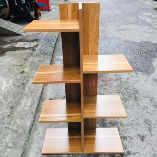 Kệ sách gỗ 7 ngăn vuông chữ T