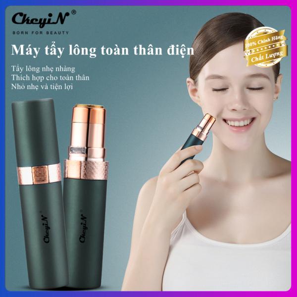 CkeyiN máy tỉa lông cạo lông nam nữ mini, hình giống son môi cầm tay có đèn LED, tẩy lông vùng kín, mặt, cánh tay, nách, đùi v.v. sạc với USB MT116