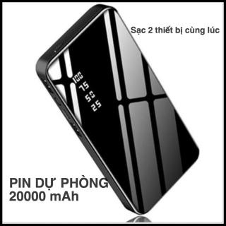 SS+20000mAh- PIN SẠC DỰ PHÒNG LCD TRÁNG GƯƠNG CƯỜNG LỰC - HỖ TRỢ SẠC NHANH 2 THIẾT BỊ ĐIỆN THOẠI CÙNG LÚC - PIN TRÂU SIÊU BỂN BỈ - AN TOÀN CHO MÁY thumbnail