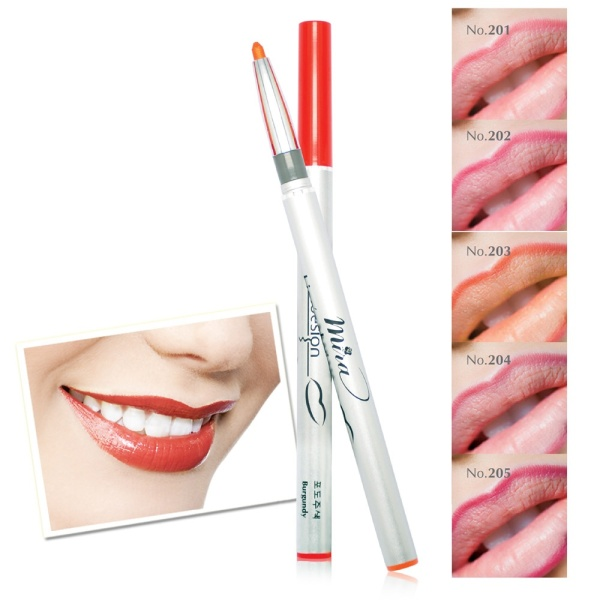 Bút Sáp Viền Môi Linen Desion Auto Lip Liner Glitter Pencil Lipstick Contour Makeup Waterproof Lipliner Pen Makeup Brush Comestic Long Lasting Waterproof Sexy giá rẻ