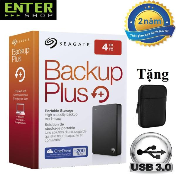 Bảng giá Ổ cứng di động Seagate Backup Plus 4Tb + Tặng túi bảo vệ Phong Vũ