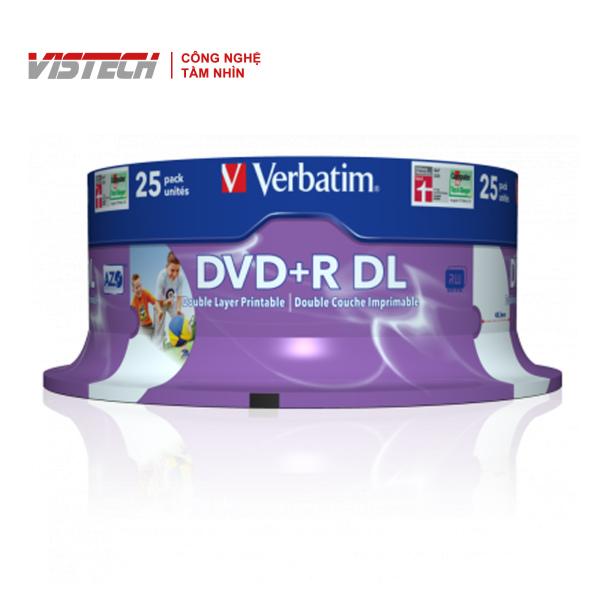 Bảng giá Đĩa Verbatim DVD+R DL 8.5GB 8X White Wide U 25pk Spindle Phong Vũ