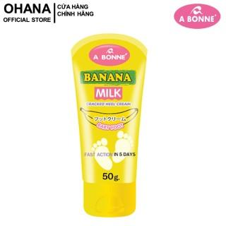 Kem Dưỡng Da Gót Chân A Bonne Banana Milk Cracked Heel Cream 50g thumbnail