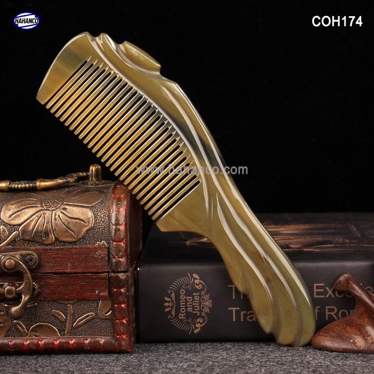 Lược sừng Hoạ tiết kiểu Châu Âu - COH174 (Size: XL - 20cm) - Mẫu cao cấp đẹp từng chi tiết - Horn Comb of HAHANCO tốt nhất