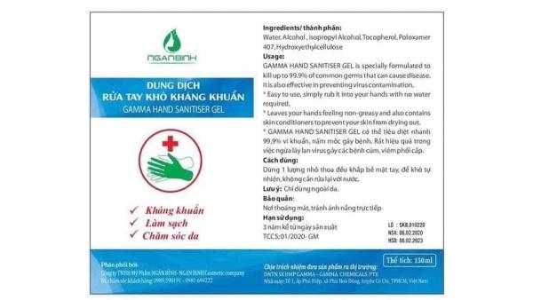 ( SALE SỐC) 2Gel rửa tay khô ngân bình diệt khuẩn đến 99.99% bảo vệ cả nhà cao cấp
