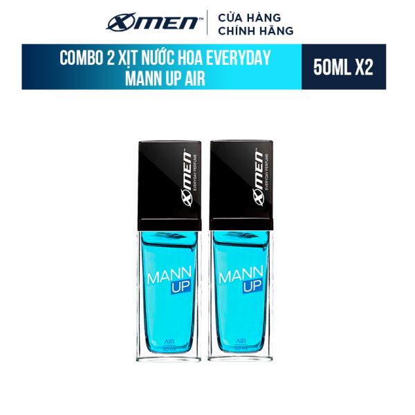 Combo 2 Xịt nước hoa hằng ngày X-Men Everyday Perfume Mann Up Air 50ml/chai